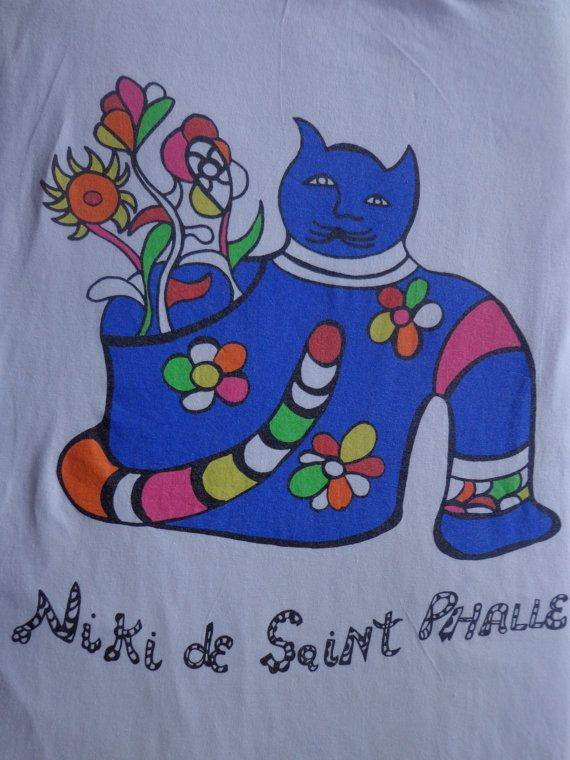 Vintage Niki De SaintPhalle Shirt with Blue by Pfirsichstrasse8, €28.00