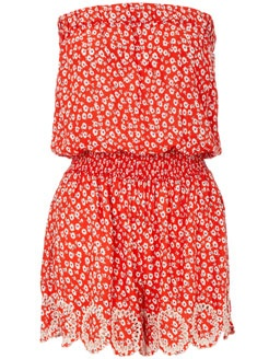 Daisy Cutout Bandeau Playsuit