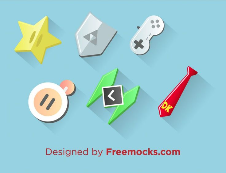Videogames Icons gaming games | Freemocks.com
