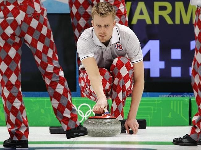 Norwegian Curling Team 2014   Revealed: Norwegian Olympic Curling team's Sochi 2014 pants ...