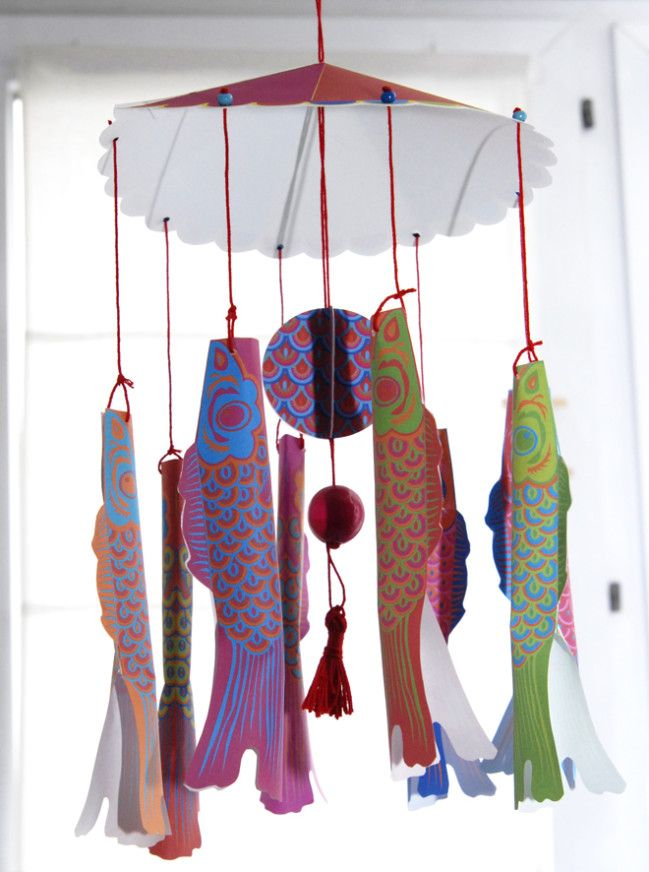 Koi Wind Socks Craft For Kids