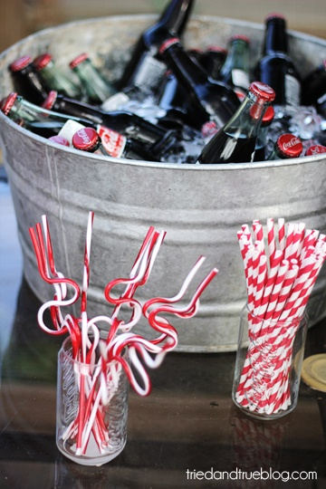 vintage soda and straws