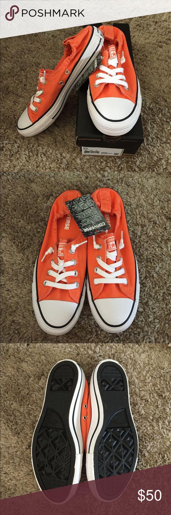 Orange Converse Shoreline New with box! Orange and white converse. Shoreline style, size 8.5 Converse Shoes Sneakers