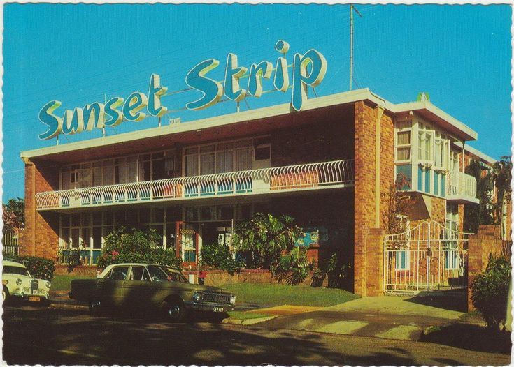 Sunset Strip holiday apartments, Coolangatta on the Gold Coast, Qld, Australia - 1970s
