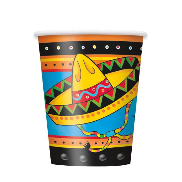Fiestivity pappkrus 8 stk. - Meksikansk temafest | Festmagasinet Standard