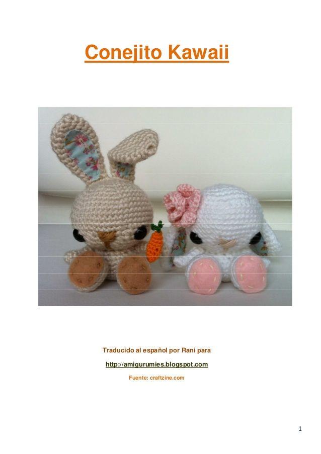 Amigurumi Conejo Kawaii : Images about conejos amigurumis en pinterest