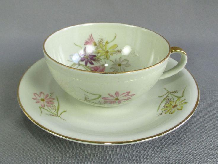 Platillo de taza de té de porcelana era Eames de postre Hostess Set Zeh Scherzer Baviera | eBay
