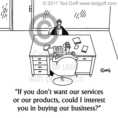 Search Ted Goff's Business Cartoons