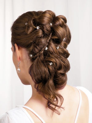 wilton rhinestone coils hair jewelry 6pc