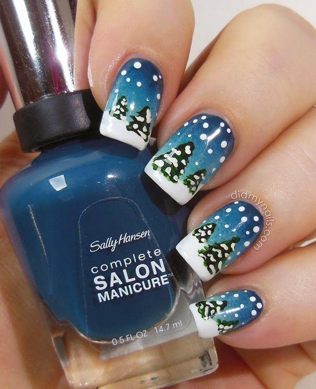 Yeah...NO way that was done with nail polish. totally fake nails!