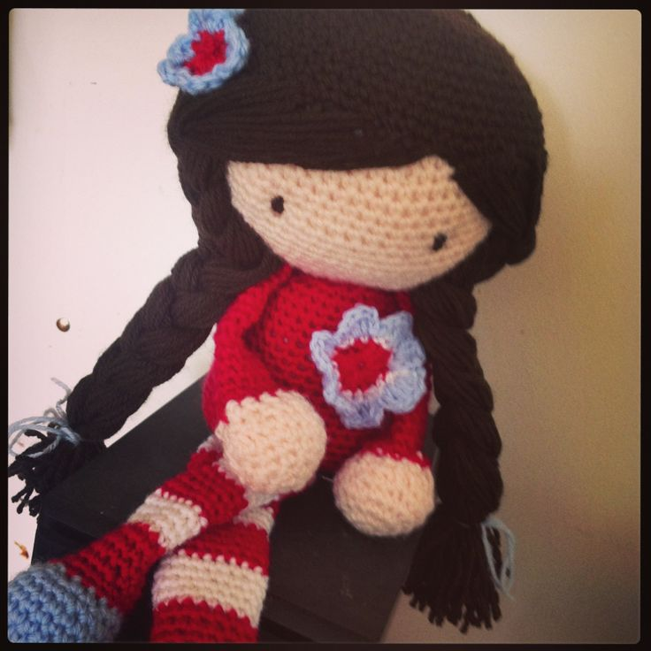 I made this doll recently. She is a Hopscotch Lane pattern. :-)