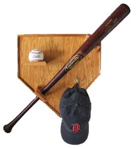 Baseball-display, you ocan also incorporate the handprint on the t-ball as well. What a neat idea!