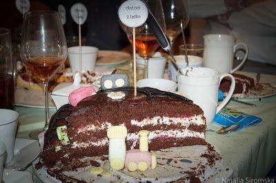 Moja Odrobina Zapomnienia: Tort czekoladowo-kokosowy z frużeliną truskawkową