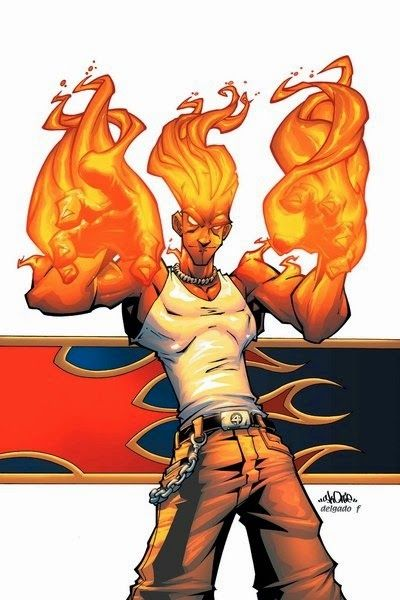 Human Torch by Skottie young