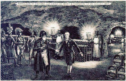 Napoléon visiting the cellars Moët & Chandon