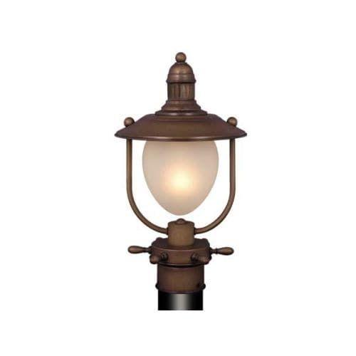 Vaxcel Lighting OP25595 Orleans 1 Light Outdoor Post Light, Antique Red Copper (Brass)