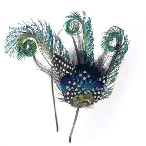 Crystalmood Handmade Curly Peacock Feather Hairband Kit Adjustable Removable by Crystalmood [Feather]. $25.80
