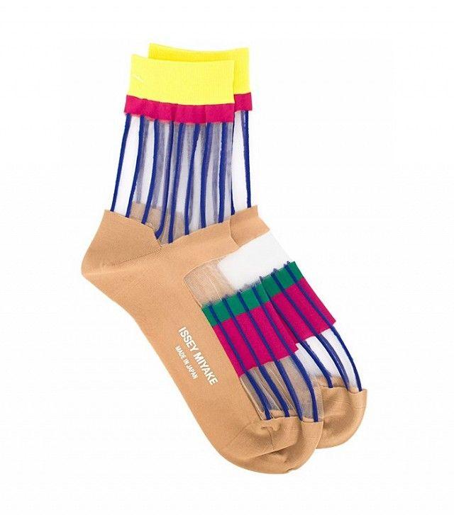 Issey Miyake Sheer Panel Socks