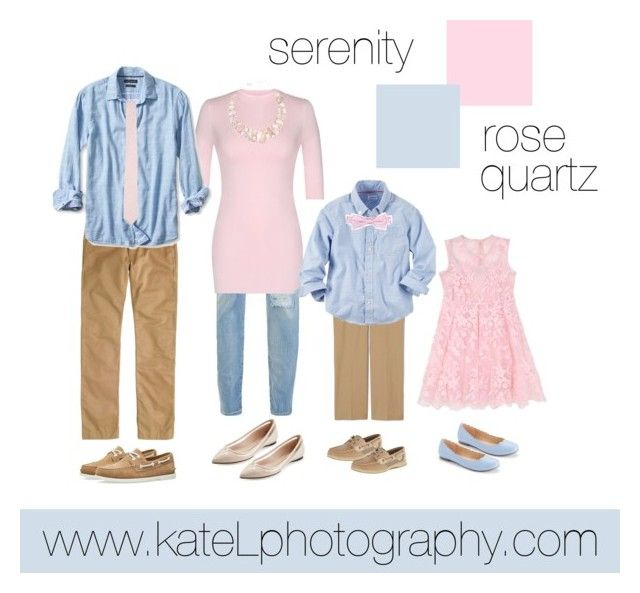 Pantone Colors of the Year: Rose Quartz + Serenity //  family outfit inspiration: what to wear for a family photo session in the spring or summer. Created by Kate Lemmon, www.kateLphotography.com
