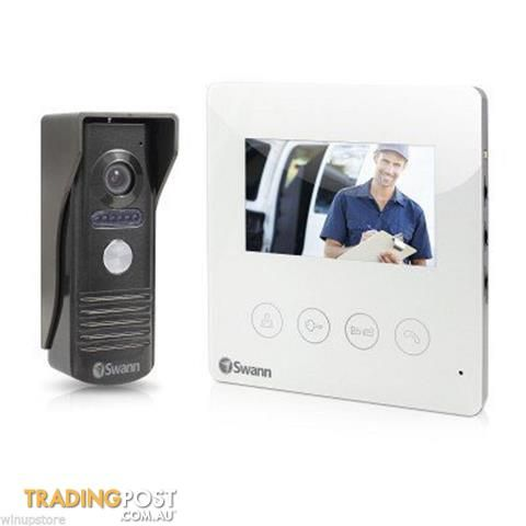 "Swann Doorphone Video Intercom With Colour 4.3"" LCD Monitor Retail Pack"