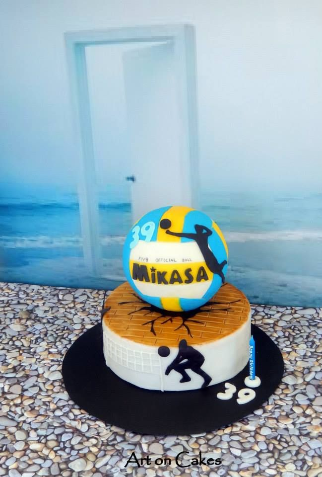volley ball cake