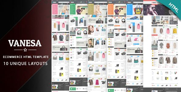 Vanesa - Responsive eCommerce HTML5 Template #webdesign #website #design #responsive #besttemplates #template #SiteTemplates #Retail #Shopping