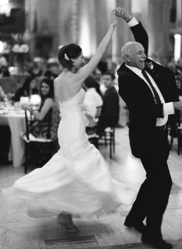 Fun Father-Daughter Dance | Photography by Brett Heidebrecht | See the wedding on SMP:  http://www.StyleMePretty.com/2013/10/11/wiup-oklahoma-city-wedding-from-brett-heidebrecht-winners/