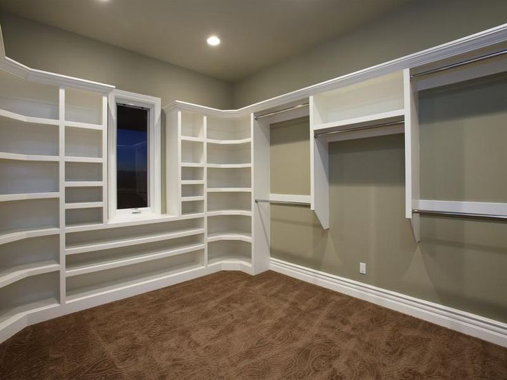 How to build large closet shelves house and home for Diy master closet ideas