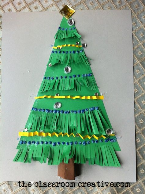A simple but gorgeous Christmas tree craft for kids or kids at heart. It's also great for teaching fine motor skills and working on a texture study for elements of art!