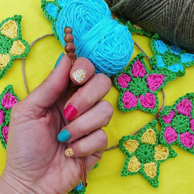 Crochet Garden Star Decoration