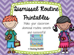 Swimming Into Second: Dismissal Routine Printables