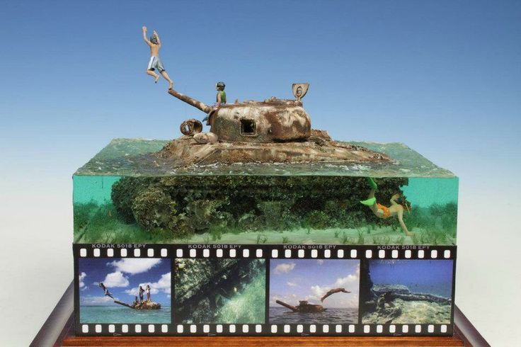 Saipan Beach 1/35 Scale Model Diorama