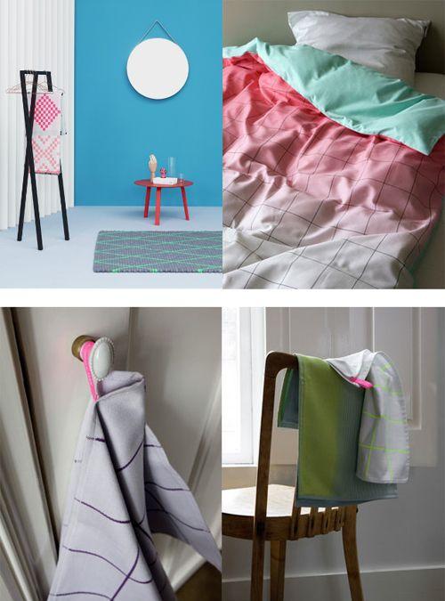 Scholten & Baijings voor HAY.  De fantastische en herkenbare mix van zachte pastellen, fluorescerende kleuren en grafische prints! Het deense merk HAY heeft tijdens hét woonevent in Parijs eind januari, Maison & Objet in Paris een nieuwe collectie gepresenteerd. En daar hoort o.a. de collectie textiel bij, op naam van het Nederlandse ontwerpersduo Scholten & Baijings.