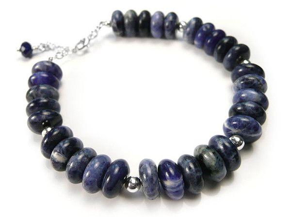 Gemstone Bracelet - Sodalite Rondelle