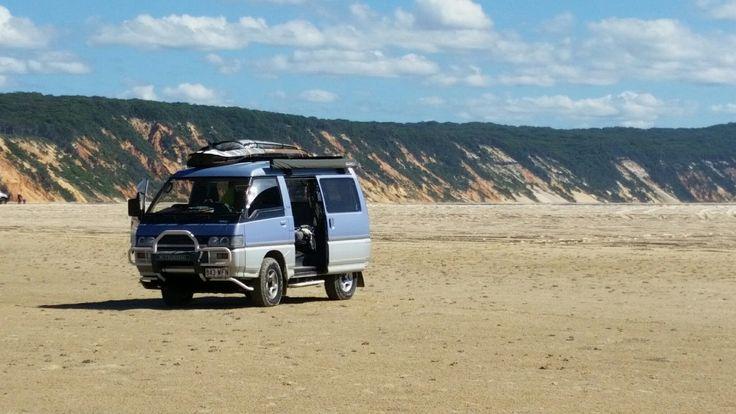 Rainbow beach....  the perfect escape from society! ! (Delica 4x4 mitsubishi )