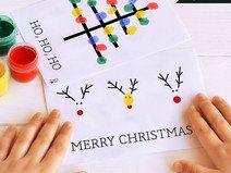 Fingerfarbe / Weihnachten / PRINTABLE / 3 Motive