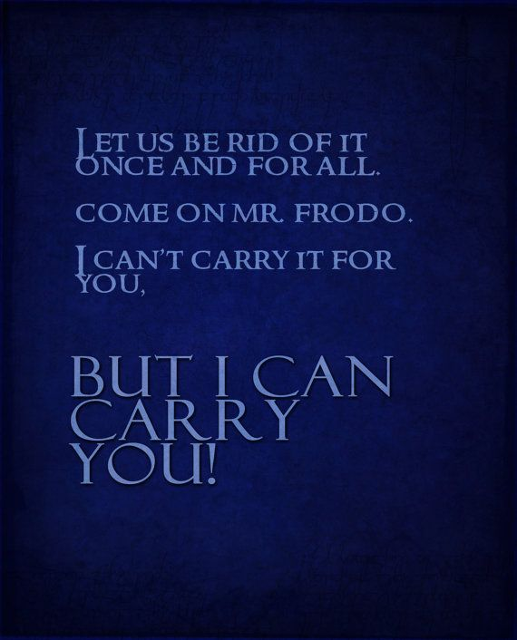 Lord of the Rings inspirtational poster set by studiomarshallarts