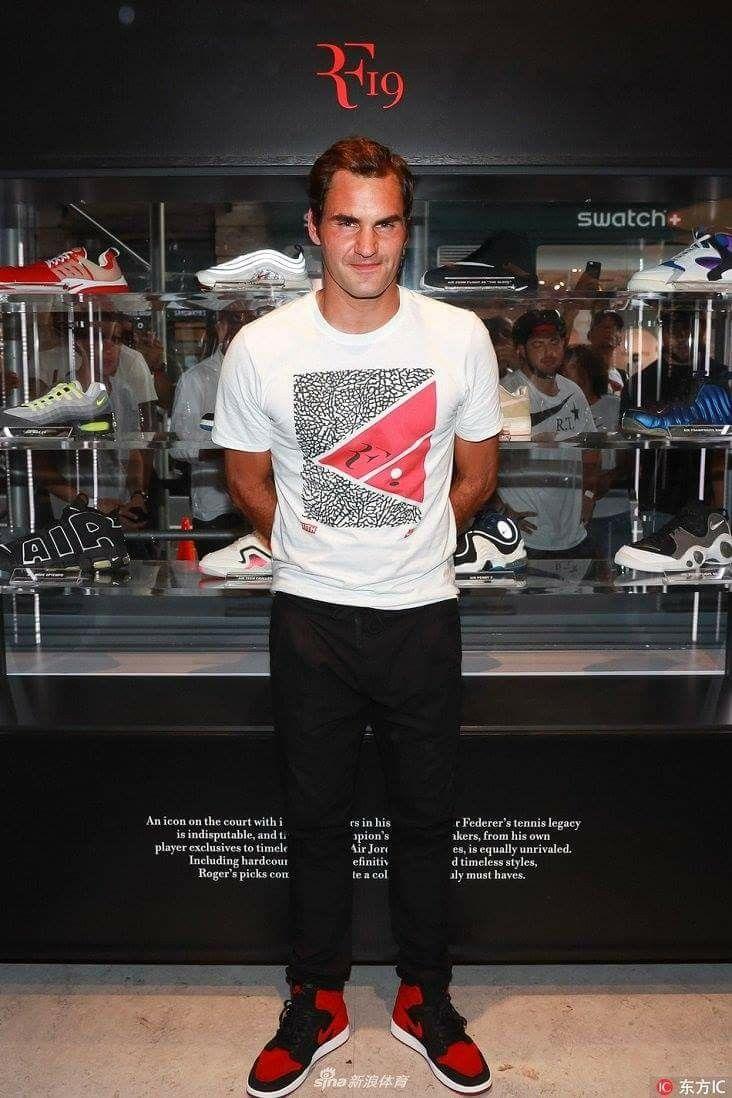 Roger Federer - Nike store - NY - Août 2017