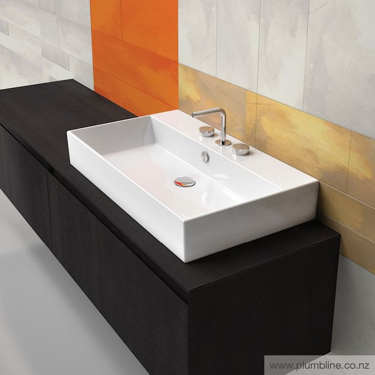 Premium 80 Basin - Premium - Basins - Bathroom Ensuite basin and vanity set up. Would prefer spout to come out of wall.