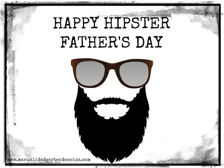 Tarjeta para padres hipsters / Father's day card for hipsters www.manualidadesytendencias.com #freebies #printable #free #father'sday