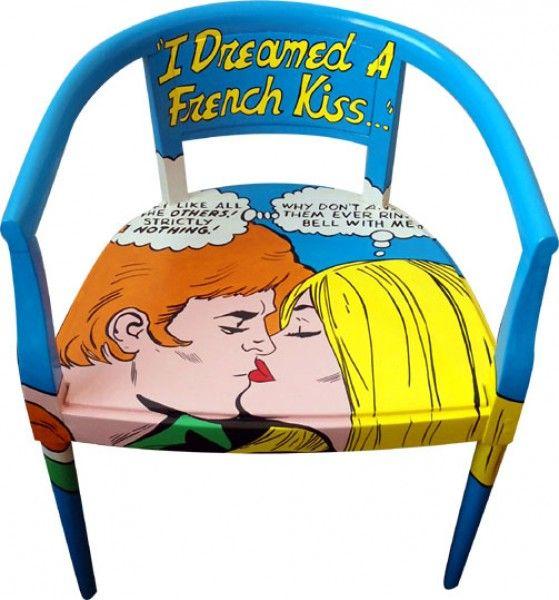 Pop Art Chair | French Kiss | Silvia Zacchello