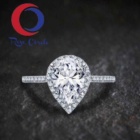 Pear Ring Pear engagement ring set pear shaped morganite