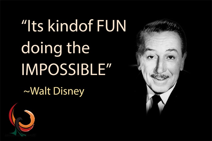 Its kindof fun doing the impossible!