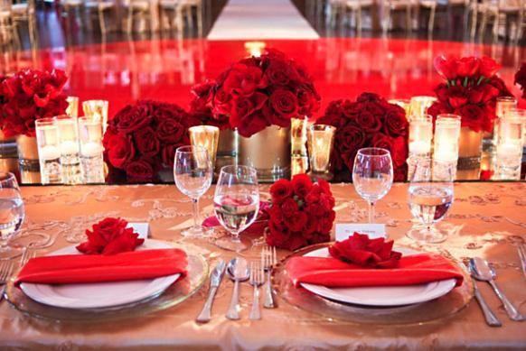 Una boda en color rojo inspirada en San Valentín #SanValentín #Amor #Red #Wedding #Love #Decoración
