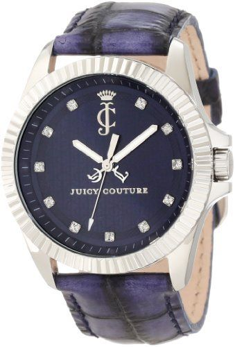 Juicy Couture Women's 1900933 Stella Croc Embossed Leather Strap Watch Juicy Couture. $195.00. Blue sunray dial. Japanese quartz movement. 40 mm stainless steel case. Water-resistant to 3 atm (99 feet). Swarovski crystal markers