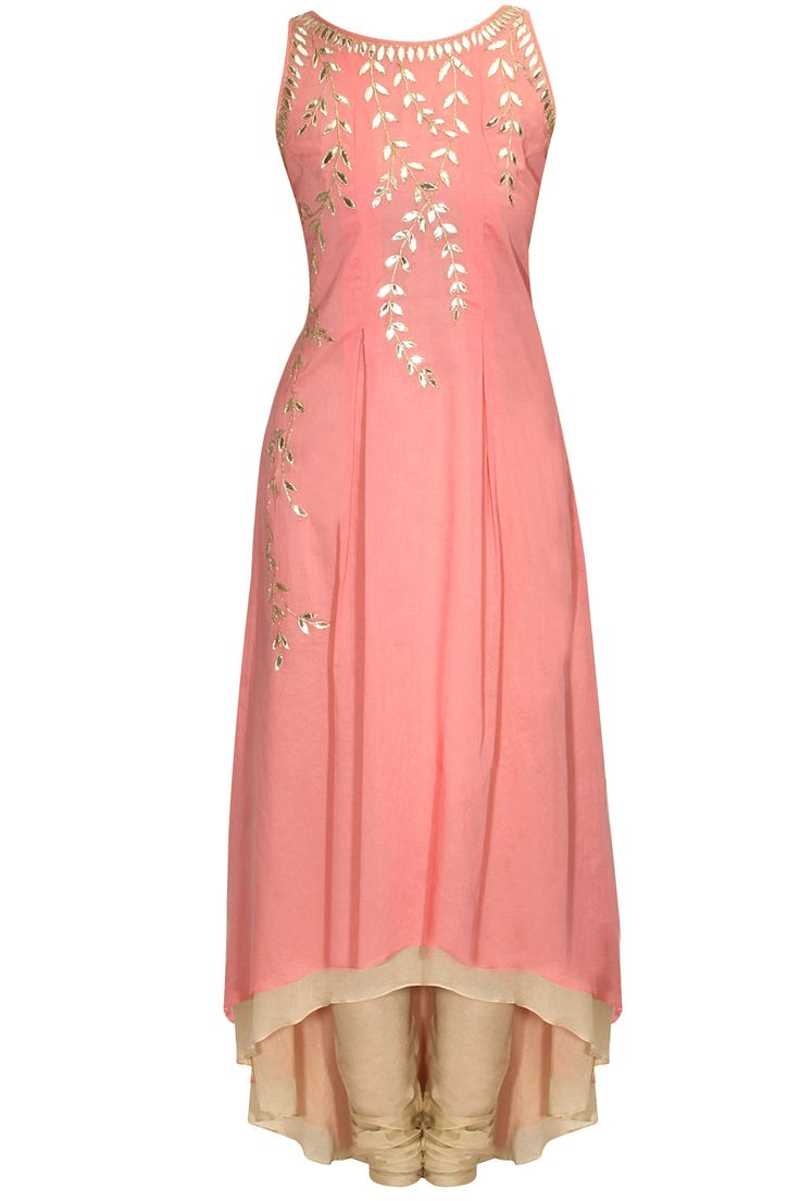Pink gota patti embroidered kurta available only at Pernia's Pop-Up Shop.