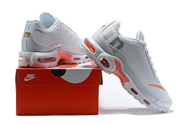 0aded4750af Nike Mercurial Air Max Plus Tn White Orange Men s women s Running Shoes