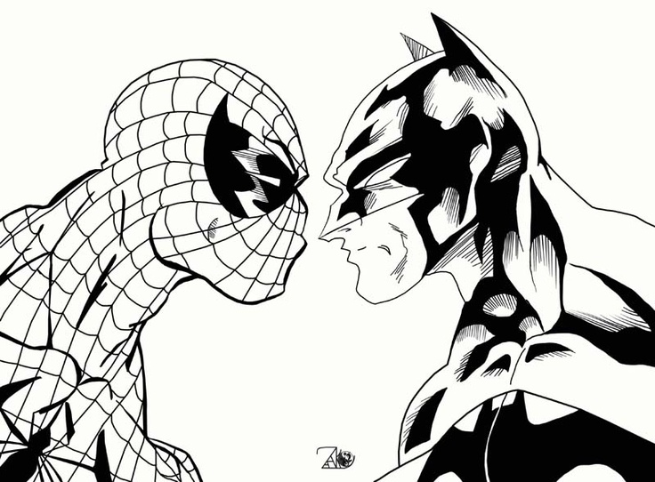 7 best spiderman coloring images on Pinterest Spiderman coloring - copy coloring pages of spiderman and batman