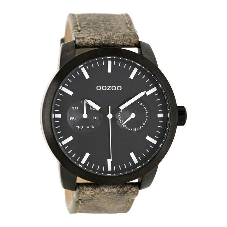 OOZOO Timepieces Grijs/Zwart horloge C8257 (46 mm)