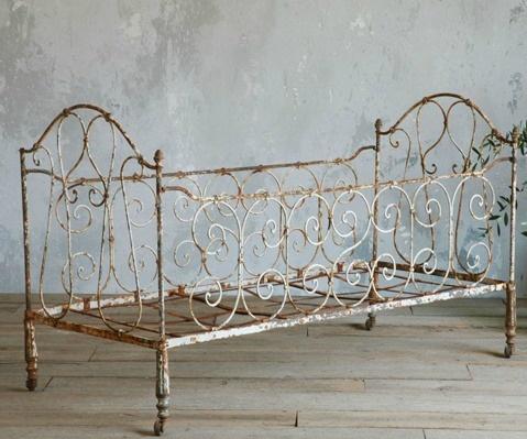 Vintage Bed Frame Metal Antique Iron